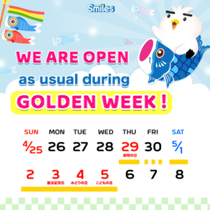 Smiles remit golden week