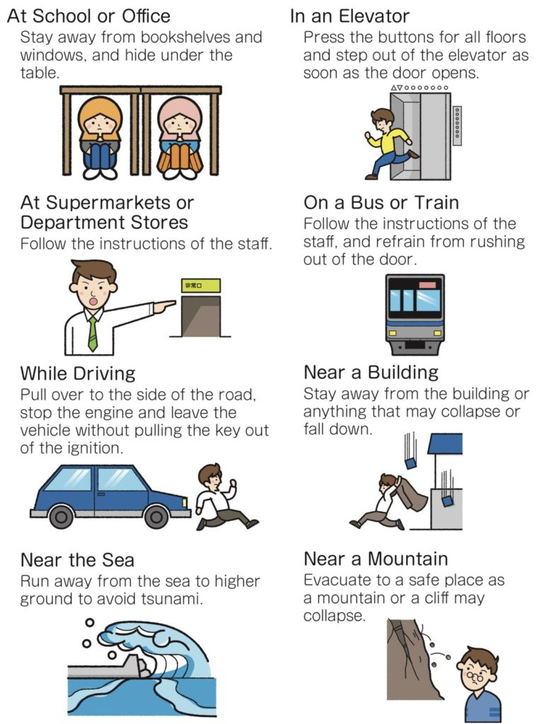 what to do in an earthquake in japan